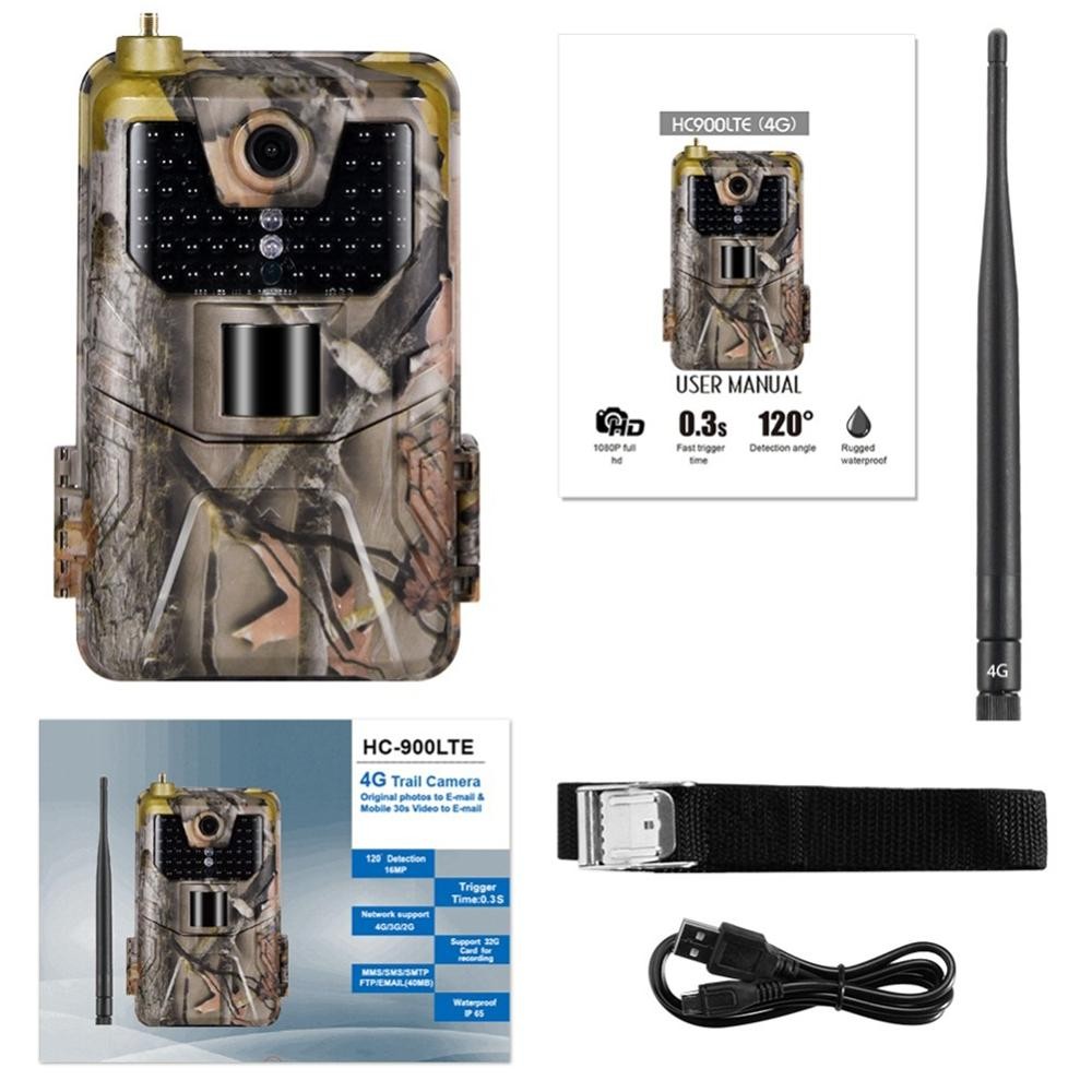 HC-900LTE 4G Hunting Camera 16MP 1080P MMS/SMS/SMTP/FTP Trail Camera IP65 0.3s Photo Traps 940nm infrared LED scout Wild Camera image