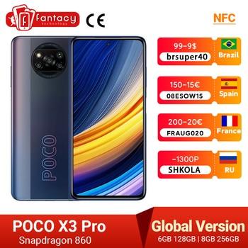 POCO X3 Pro Global Version Snapdragon 860 Smartphone 8GB 256GB 120Hz DotDisplay 5160mAh 33W NFC Quad AI Camera In Stock 1
