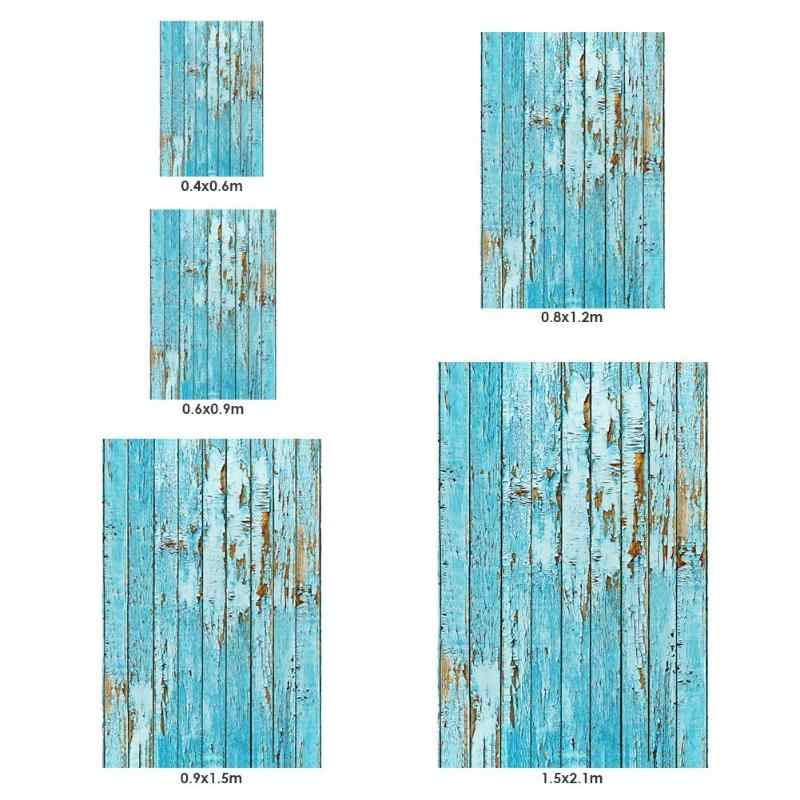 Plank 90 Cm.60 90cm Retro Blue Wooden Plank Photography Background Art Cloth Photo Studio Video Table Photographic Vintage Backdrop For Food
