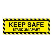 2 м держать в безопасности стоять отдельно знак виниловПредупреждение