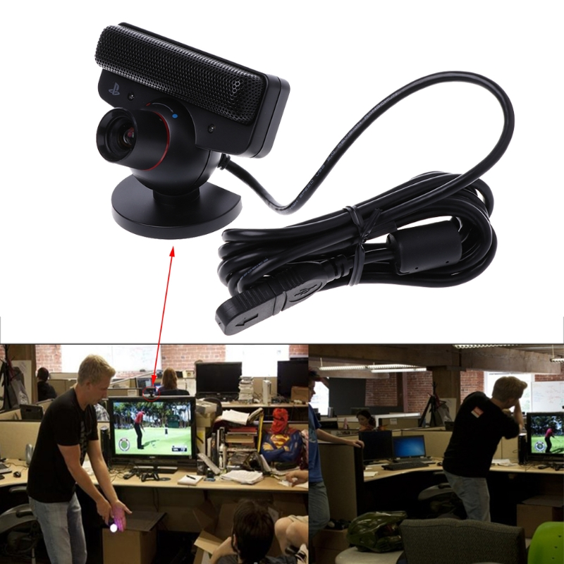 USB 2.0 480P Eye Motion Sensor Camera With Microphone For Sony Playstation 3 PS3 Game System Built-in 4 Microphone Webcams