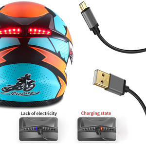 Image 3 - Smart Moto rcycle Helm LED licht Professionelle Volle Gesicht casco moto Racing Helm DOT Off Road Moto cross Helm Accessrioes