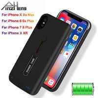 Obudowa ładowarki do iPhone 6 6s 7 8 Plus 3500 mAh/4000 mAh/5000 mAh Powerbank etui dla iphone'a x XR Xs etui z funkcją ładowania baterii