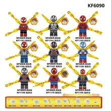 цены KF6090 Building Blocks Bricks Far From Home Movie Figures Spider-Man With Chrome Claws Peter Park Mysterio Action For Kids Toys
