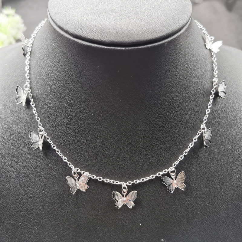 JCYMONG Cute Small Animal Butterfly Chain Necklace For Women Gold Silver Color Clavicle Chain 2020 Fashion Female Choker Jewelry