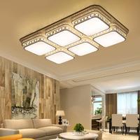 Led Kristallen Plafondlamp Woonkamer Lamp Rechthoekige Eenvoudige Slaapkamer Lamp Ijzer Art Eetkamer Thuis Decoratie Verlichting