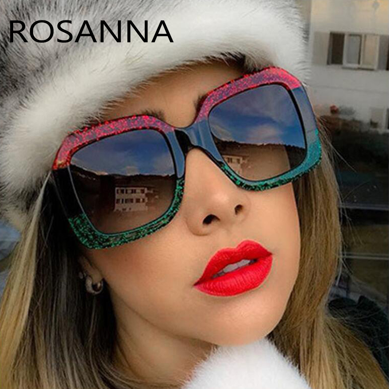 2020 Sunglasses Women Luxury Brand Women Designer Oversized Square Sun Glasses Female Summer Style Shades UV400 Tricolor Frame
