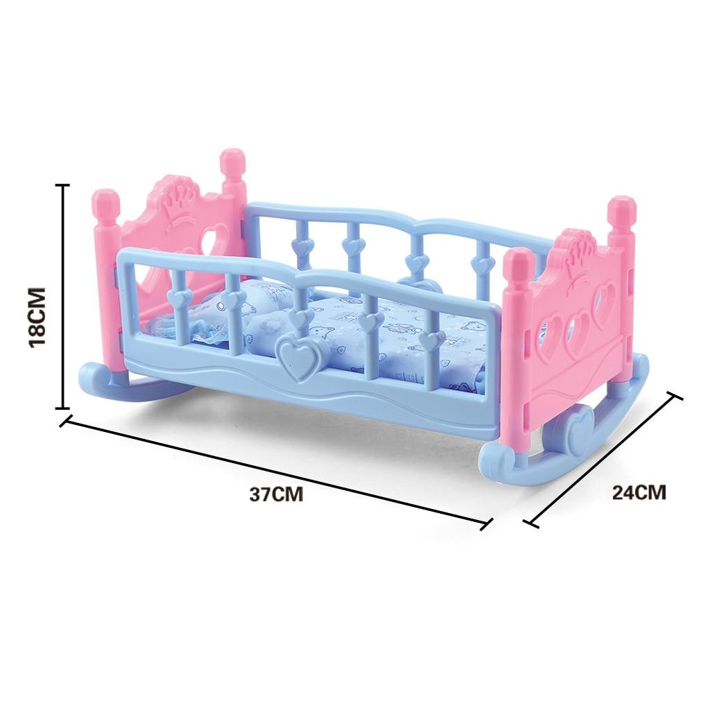 Schaukeln Wiege Krippe Bettwäsche Set Baby Puppe Möbel Spielzeug Für Mellchan Puppen