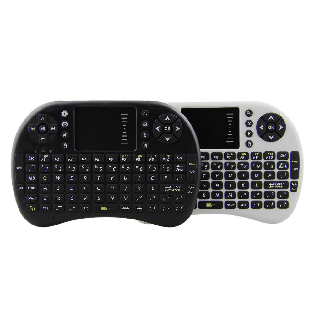 I8 Mini Wireless Keyboard Fly Air Mouse Remote Control Bahasa Rusia Bahasa Inggris Layout untuk Laptop Tablet PC Android Smart TV Box
