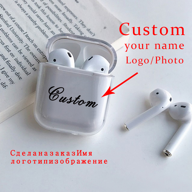 Custom Name Clear Transparent Soft Silicone Cute Case For Air Pods Case For Bluetooth Airpod Cases Cover For Airpods Pro Case