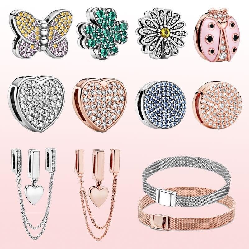 925 Sterling Silver pandora charms Reflexions beads fit Pandora bracelet DIY pendant pandora charms silver 925 original(China)