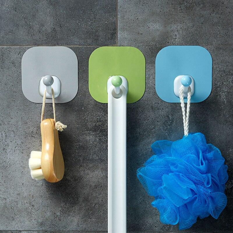 Многоцелевой держатель для вязания крючком аксессуары для ванной комнаты вешалка-крючок для пальто для кухни крепкая Наклейка Настенная