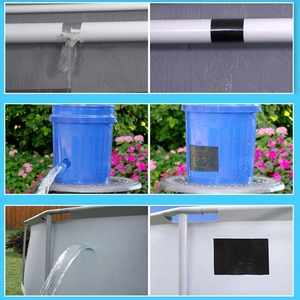 Image 4 - Super Starke Wasserdichte Stop Lecks Reparatur Band Wasserdicht Klebstoff Wasser Rohr Klebeband PVC Starke Pipeline Dichtung Reparatur Band