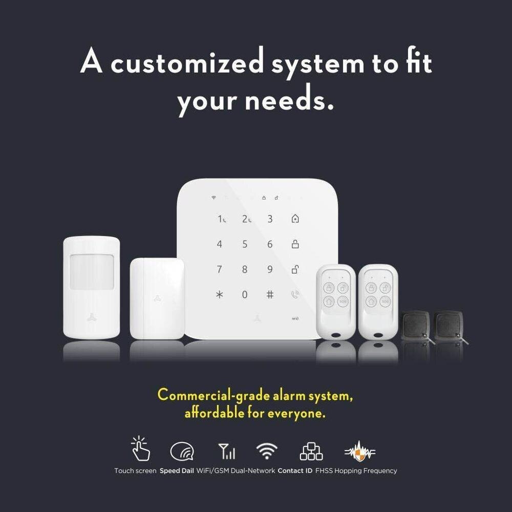 Tuya сигнализация Wi-Fi GSM сигнализация Беспроводной домашняя охранная сигнализация дом охранной сигнализации для развдижных поддержка Alexa Google...