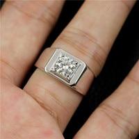 1CT Moissanite ring mens 925 sliver adjustable men rings fashion large wedding NJ05