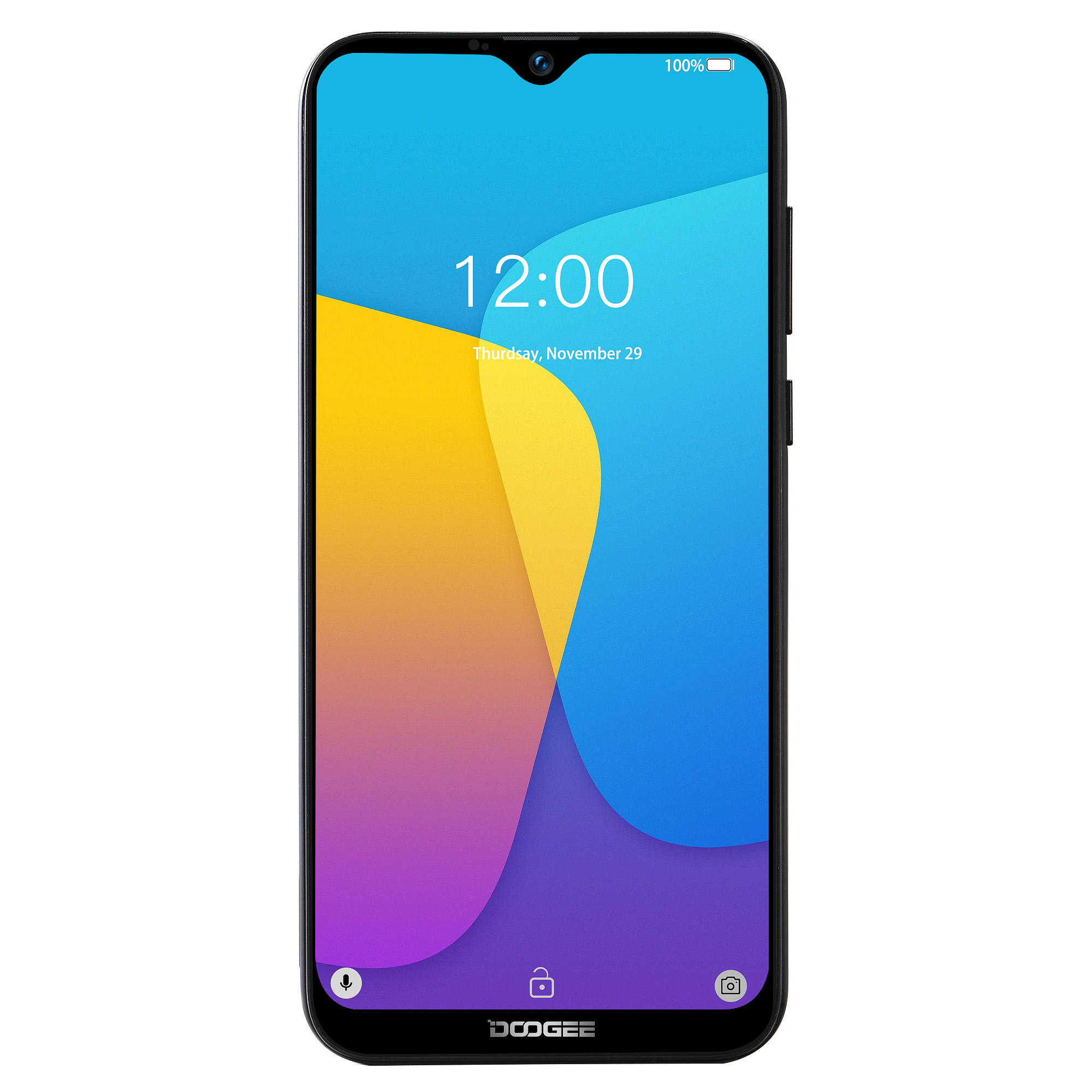 DOOGEE X90 6.1'' HD Android 9.0 19:9 1GB 16GB Face Unlock Smartphone 8MP Camera MT6580A Quad Core 3400mAh 5V/1A Mobile Phone