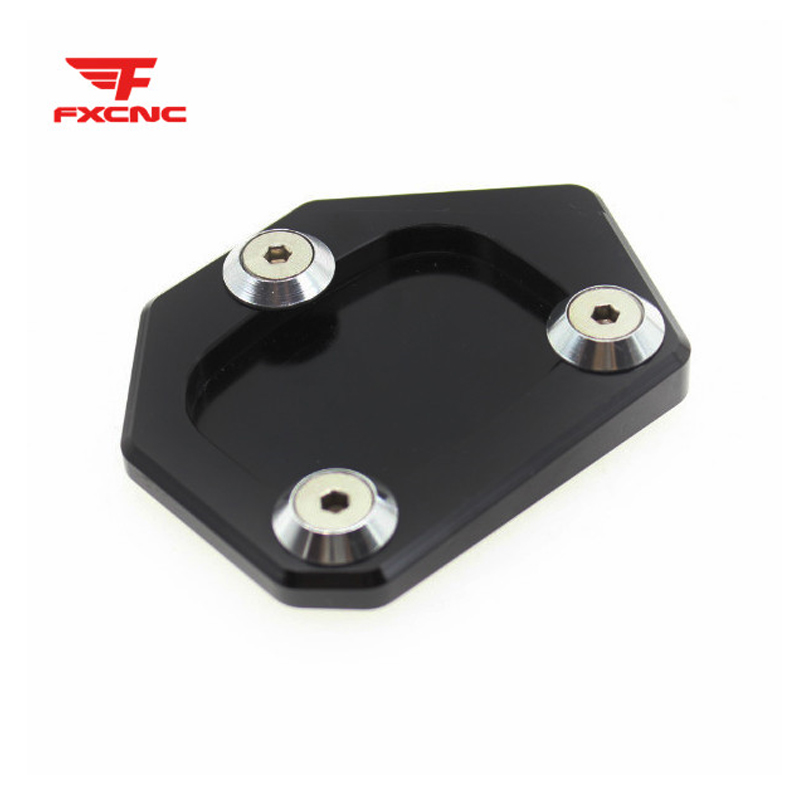 CNC Side Stand Kickstand For <font><b>Honda</b></font> TRANSALP <font><b>XL</b></font> 600 650 <font><b>700</b></font> TRANSALP XL600V DOMINATOR NX FMX 650 Sidestand Extension Enlarger Pad image