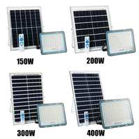 Solar Flood Light Outdoor Waterproof Wall Lamp Led Solar Lamps Multi function Garden Lighting 150/200/300/400W W/ Solar panel RC