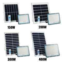 Solar Flood Light Outdoor Waterproof Wall Lamp Led Solar Lamps Multi function Garden Lighting 150/200/300/400W W/ Solar panel RC