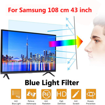 Para Samsung 108 cm 43 pulgadas recién llegado Pantalla de luz azul antideslumbrante antimicrobiano película protectora para tv