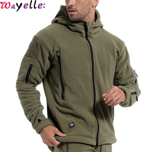 US Military Fleece Tactical Jacket Men Winter Thermal Outdoor Warm Hooded Jacket Coat Men Softshell Hike Outerwear Army Jacket winter warm military jackets coats men 2019 casual fashion thick thermal fleece hooded jacket coat outerwear