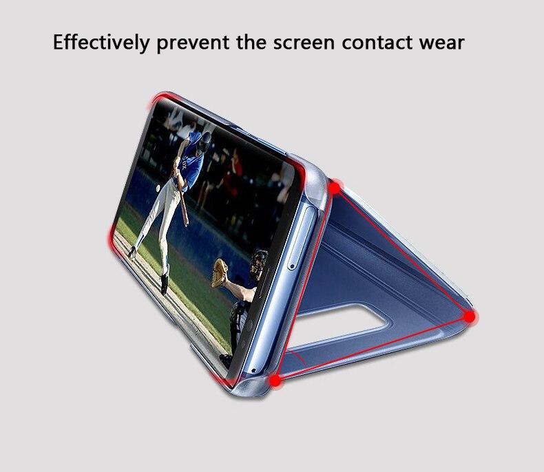 SAMSUNG Original miroir couverture vue claire Flip téléphone étui pour SAMSUNG Galaxy S8 S8 + S8 Plus projet Dream G9508 G955 G950U S8plus - 3