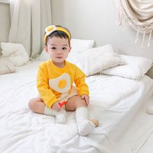 Jumpsuit Costume Romper-Set Long-Sleeve Baby-Girl Yellow 0-24M White-Color One-Piece