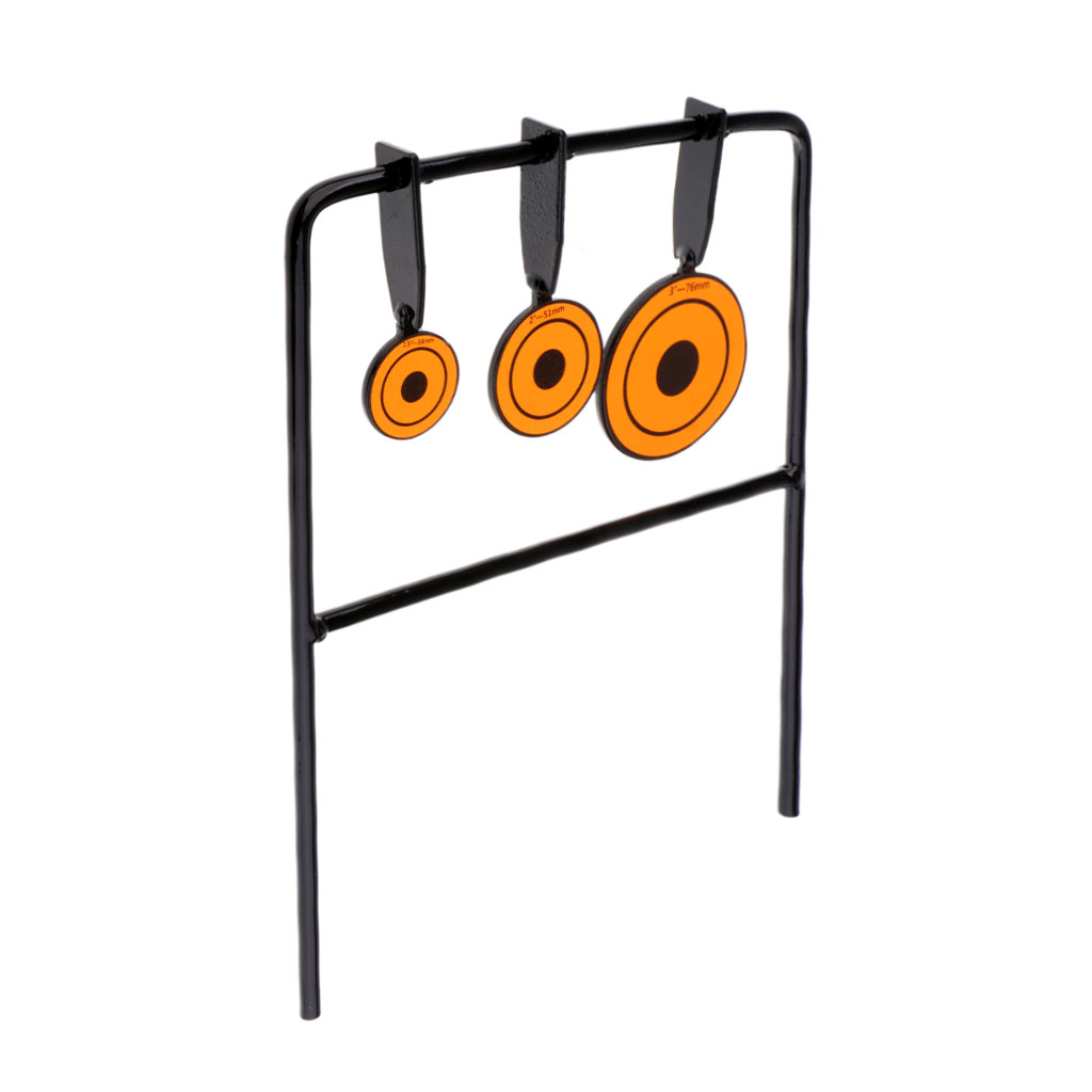 Reset Shooting Target Heavy Duty Steel Stand Training Practice Iron Plates