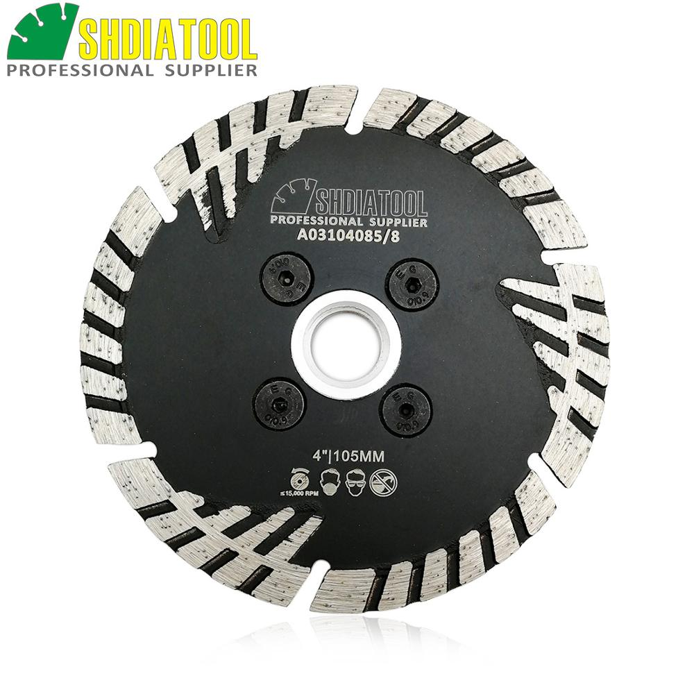 SHDIATOOL 1pc Hot Pressed Diamond Turbo Blade Slant Protection Teeth Diamond Cutting Disc 5/8-11 FLANGE Dimond Wheel
