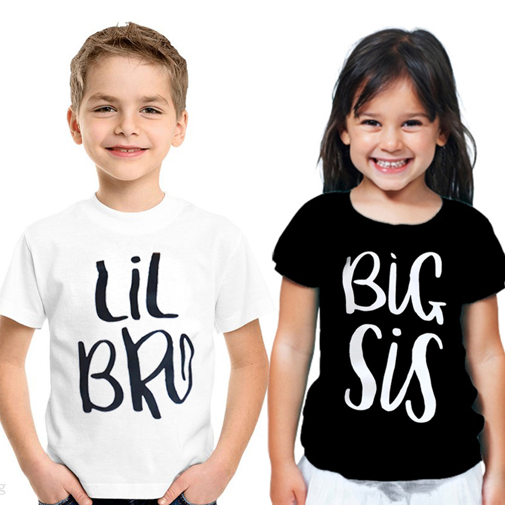 Twins Baby Sisters Brother Clothes Mini Boss Letter Print Short Sleeve Crown Bodysuit T Shirt Romper Newborn Clothes