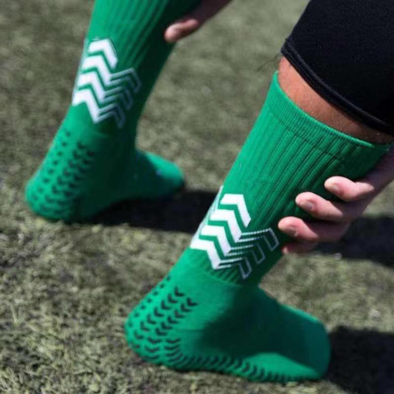 Anti Slip Soccer Socks Men Triangle Arrow Shape Socks Competition Training Towel Bottom Soccer Socks Football Socks