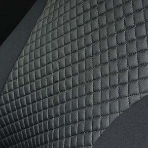 Чехлы Для Автомобильных Сидений Универсальный Цвет Чёрный 2 шт Искусственные Кожа