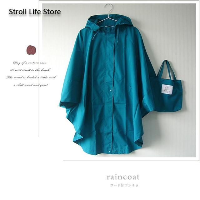 Japanese Rain Poncho Raincoat Women Adult Outdoor Waterproof Hiking Travel Windbreaker Women Rain Jacket Casacas Para Mujer Gift 4