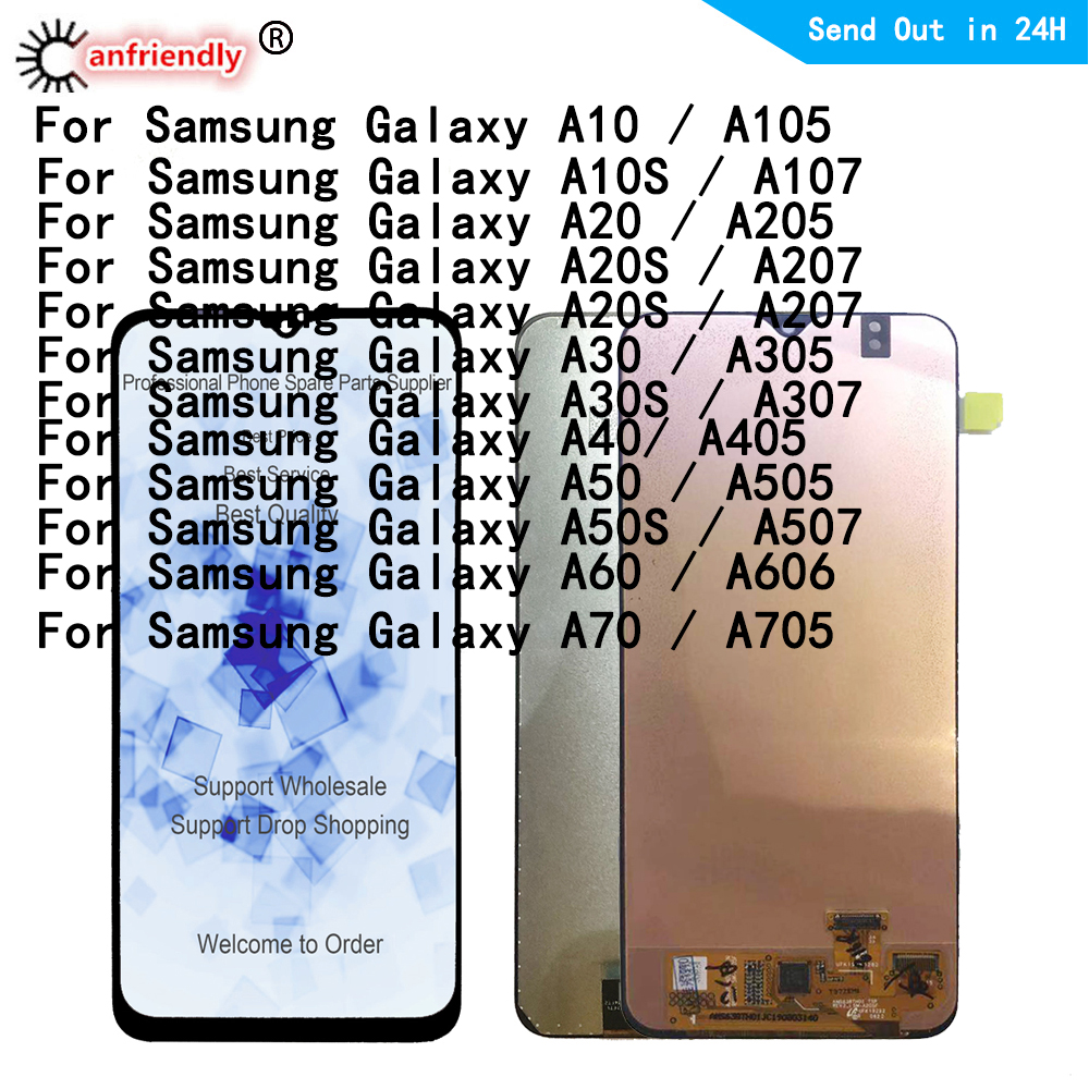 <font><b>LCD</b></font> For <font><b>Samsung</b></font> Galaxy <font><b>A10</b></font> A105 A10S A107 A20 A20S A30 A30S A40 A50 A50S A60 A70 <font><b>LCD</b></font> display <font><b>Screen</b></font> Touch Digitizer Assembly image