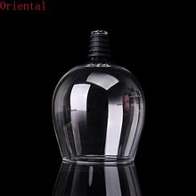 Fashionable Unique Crystal Transparent Glass Red Wine Bottle 401-500ml Screwing Drinking Straight Cup Party Bar Tools