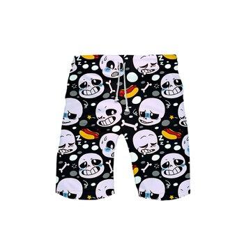 Undertale Role-playing drama games Men's Shorts Trunks Summer Fashion Quick Dry Beach Shorts Men Hip Hop Short Pants Beach Wear фото