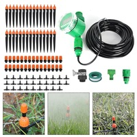 25M Auto Garden Water Irrigation Drip Spray Micro-Watering Plant Hose Timer Kit
