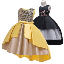 Girls Trailing Dress Princess Pageant Gown Birthday Party Wedding Frocks Costume Kids Dresses For Girls Clothing vestidos-in Dresses from Mother & Kids on AliExpress