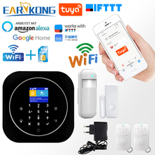 Tuya APP Smart WiFi GSM Home Security GSM Alarm System 433MHz Detectors Alarm Compatible With Alexa Google Home IFTTT Tuya APP