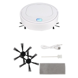 New Robot Vacuum Cleaner Automatic Smart Sweeping Robot Home Sweeping Machine Mites Removal Low Noise Indoor White