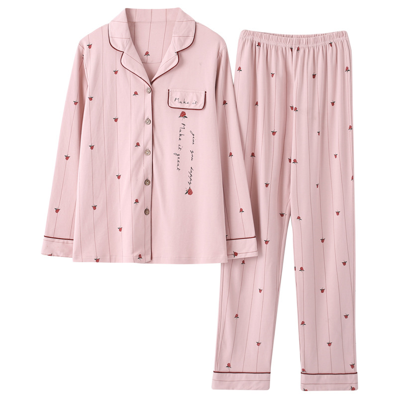 Women's Sleepwear Women's Autumn Long Sleeve Cotton Tracksuit Korean-style Cartoon Cute Pyjamas Set Winter Women Pajamas