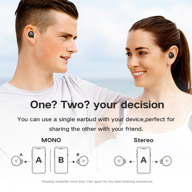 Whizzer  TWS Wireless Earbuds with Qualcomm Chip-Original Earbuds 6
