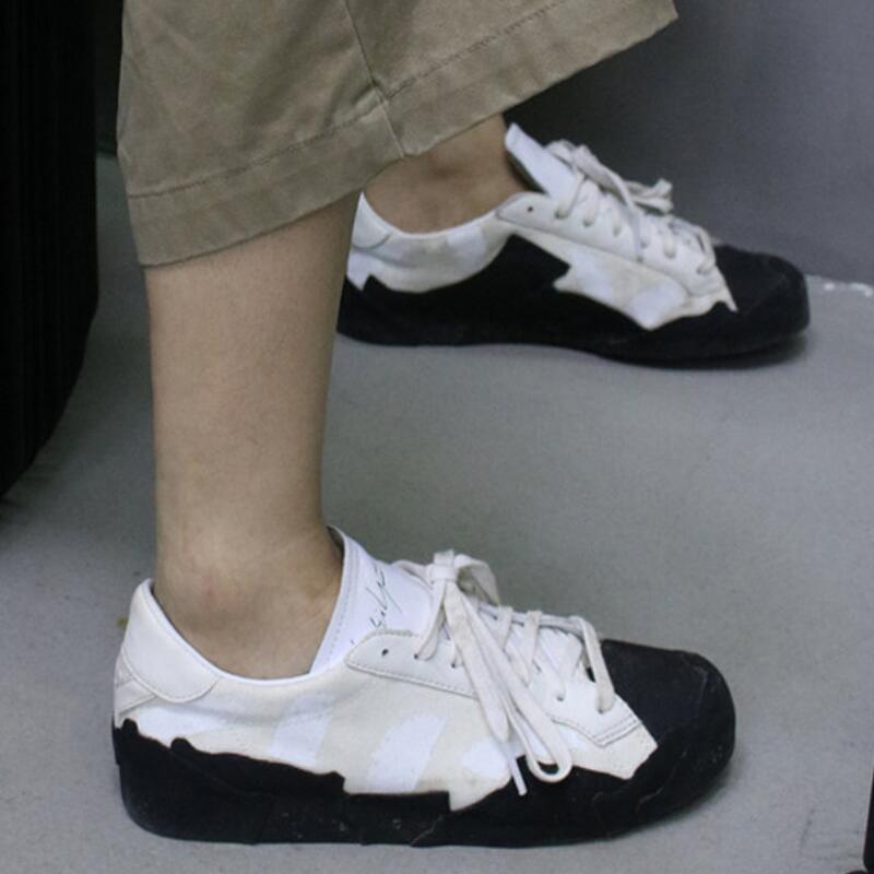 Black Sole White Sneakers Summer Women