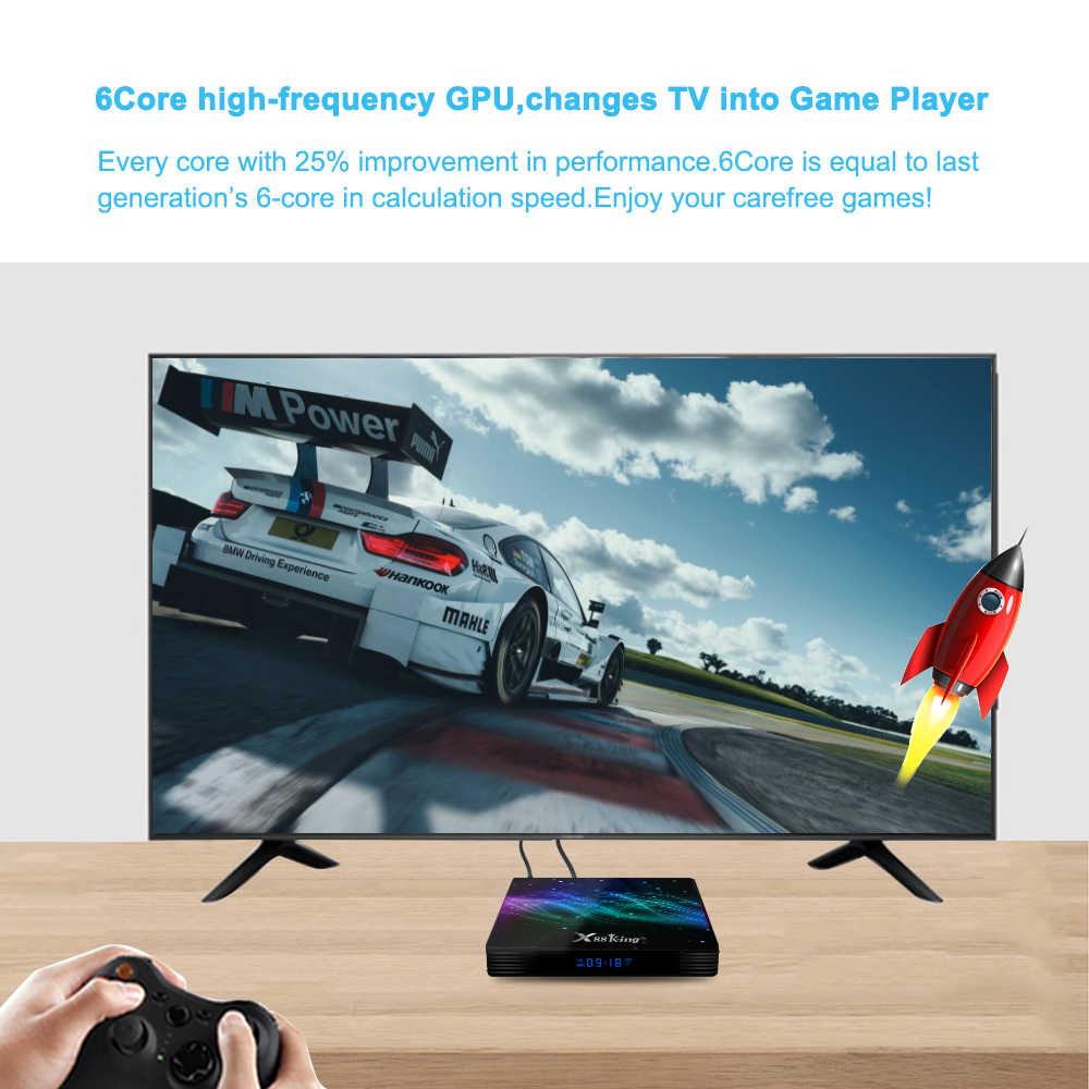 Dekoder 4K HD S922X hexa-core 64bit 4K @ 60Hz HDMI 2.0a Android 9.0 najwyższej jakości 1080 p @ 120Hz Mali-G52 MP6 4G 128G SmartTV Box