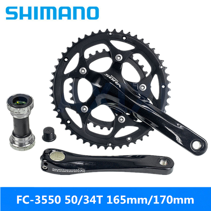 ORIGIN8 FORGED ALLOY  3-PIECE 160MM  110-BCD BLACK BICYCLE CRANK SET