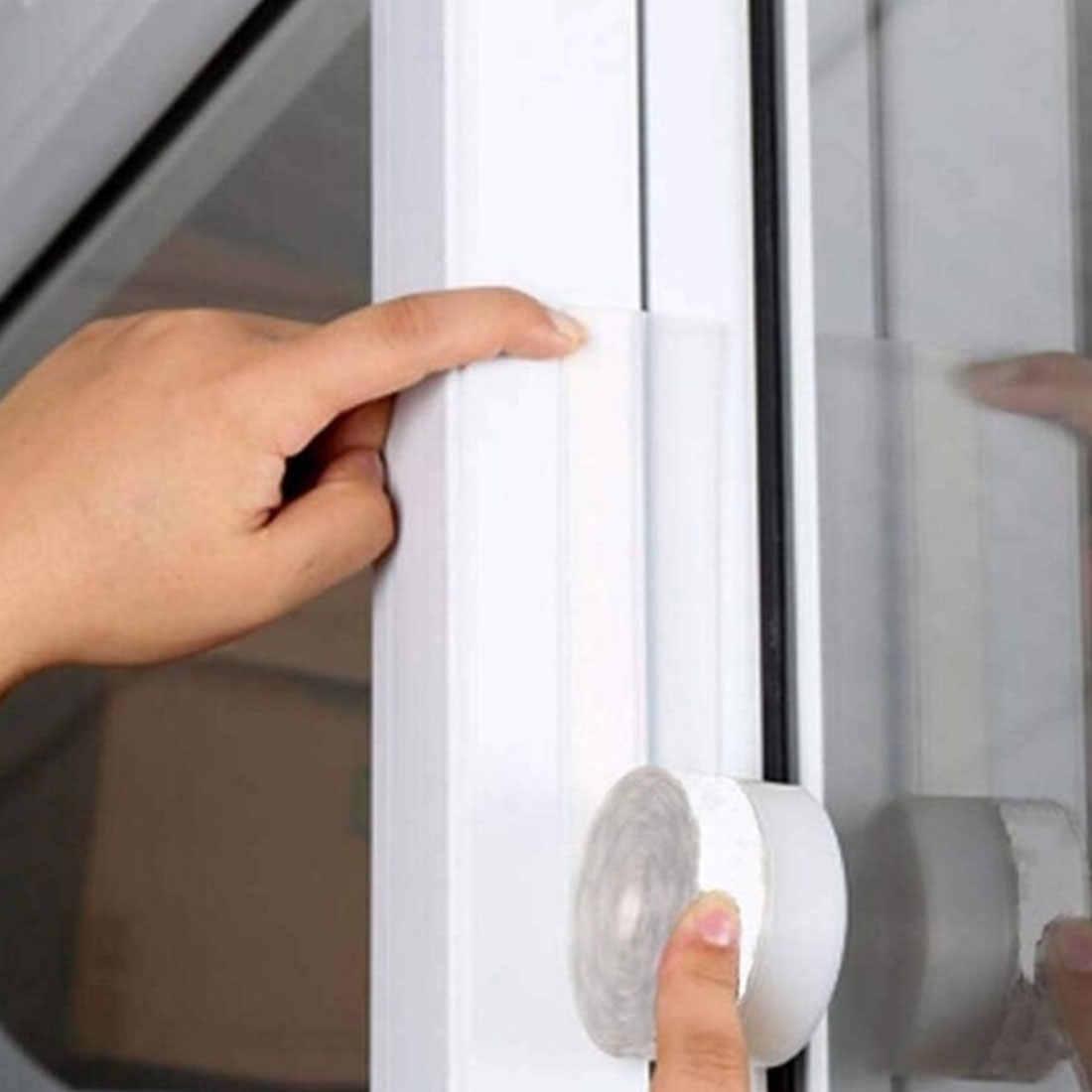O długości 1 m dźwięku narzędzie do izolacji szklane okno modelu stali nierdzewnej drzwi uszczelki silikonowe ponad Bar przezroczyste 35 mm szerokość