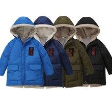 Girls Jacket Outerwear Kids Coats Hooded White-Duck-Down Boys Winter Children Teenage