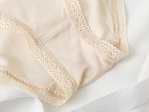 Image 5 - 3 pack Womens 100% Silk Lace Thin Sexy Panties Briefs Underwear Lingerie M L XL TG005