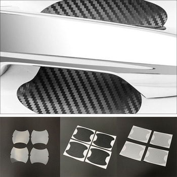 4pcs Car stickers Car Door Handle Scratches Protec For Toyota Camry Corolla RAV4 Yaris Highlander Land Cruiser PRADO Vios Vitz image