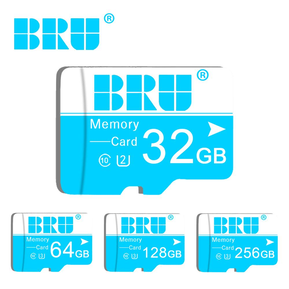 BRU Micro Sd 16gb 32gb 64gb 128gb 256gb Micro Sd Card For Car Recorder Original Memory Card TF Card For Smartphone And Table PC
